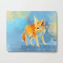 Sound of the Desert - Fennec Fox digital painting Metal Print