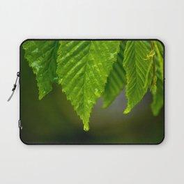 Waterdrops on a leaf Laptop Sleeve