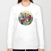 band Long Sleeve T-shirts featuring Star Trek Jam Band by Jessica Fink