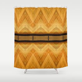 Symmetrical Wooden Pattern Shower Curtain