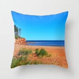 Cabot Beach and Cliffs Throw Pillow