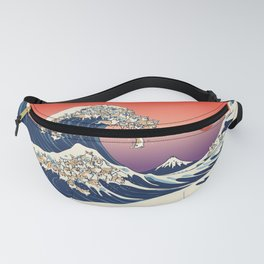 The Great Wave of Corgis Fanny Pack