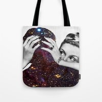 eugenia loli Tote Bags featuring Dependable Relationship by Eugenia Loli
