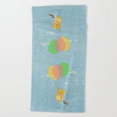 I can fly! Beach Towel