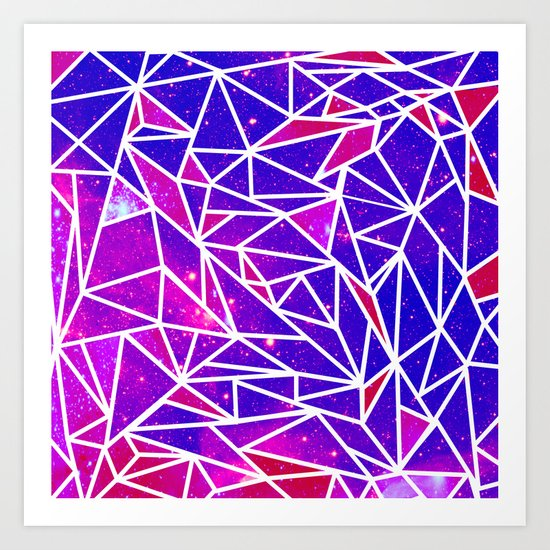 Starry Crystalline Space Pattern Art Print
