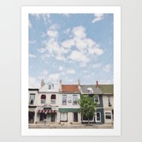 caleb troy Art Prints featuring Troy, Ohio by Andrea Bell of Tether & Fly