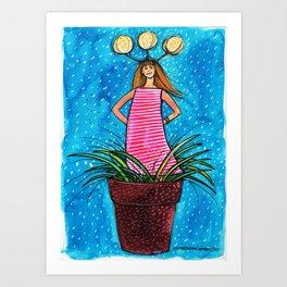 Flowergirl1 Art Print