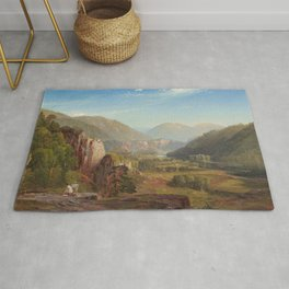 The Juniata Evening 1864 By Thomas Moran | Scenic National Park View Reproduction Rug