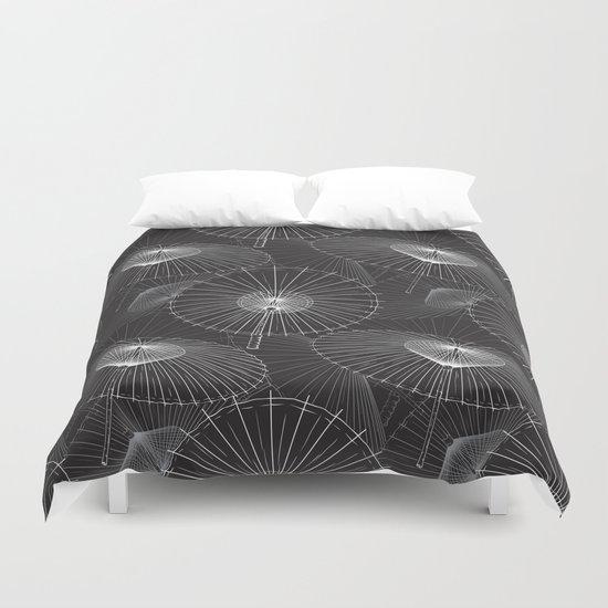 Japanese Umbrella pattern #8 Duvet Cover