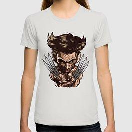 Hugh Jackman as Wolverin Vector Caricature T-shirt