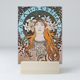 Sarah Bernhardt with Lilies Mini Art Print