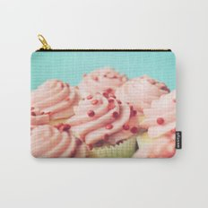 STRAWBERRY CUPCAKES PHOTOGRAPH Carry-All Pouch