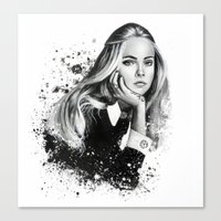 cara Canvas Prints featuring Cara by NZL Illustrations