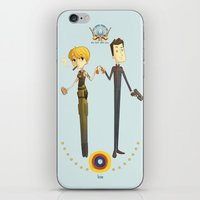 battlestar iPhone & iPod Skins featuring Battlestar couple by Annalisa Leoni