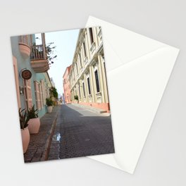 Pastel colors in the colonial downtown of Cartagena de Indias - Fine Art Photography Stationery Cards