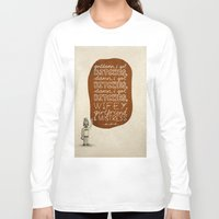 kendrick lamar Long Sleeve T-shirts featuring Kendrick Lamar; What Rappers Say Series 7/8 by Jaron Lionel