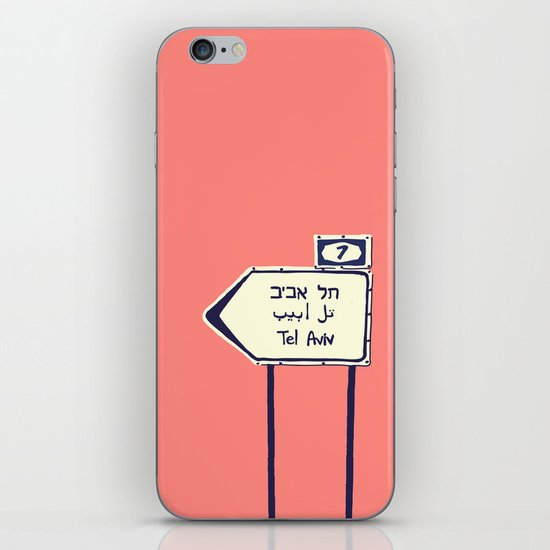 Tel Aviv This way iPhone & iPod Skin