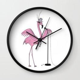 Dashing flamingo Wall Clock