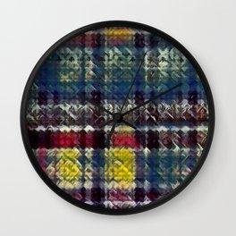 City Nights Plaid Wall Clock
