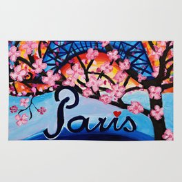 Paris Cherry Blossoms Rug