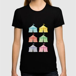 colourful circus tents T-shirt