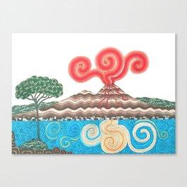 vesuvio con pino Canvas Print