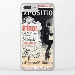 Vintage French Louis XIV & XV antique art expo Clear iPhone Case