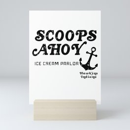 Scoops Ahoy Ice Cream Parlor large logo vintaged Mini Art Print