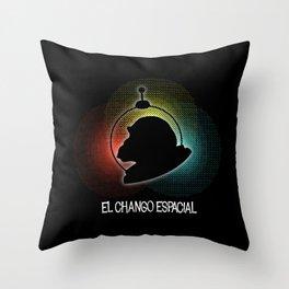 El Chango Espacial (Technicolor) Throw Pillow