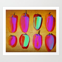 small pink peppers Art Print