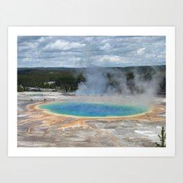 Grand Prismatic Springs,Yellowstone Art Print
