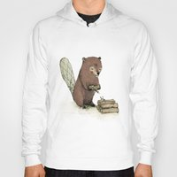 beaver Hoodies featuring Beaver. by Paola Zakimi