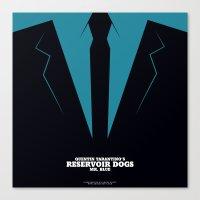 reservoir dogs Canvas Prints featuring Reservoir Dogs Mr. Blue by Arden Avett