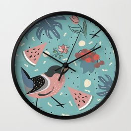 My Forest Mystery Bird Wall Clock