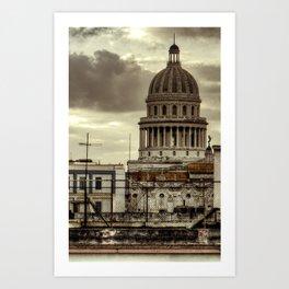 CUBA - CAPITOLIO Art Print