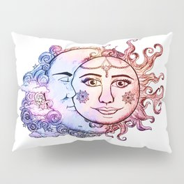 colored Sun and Moon Pillow Sham