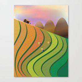 Terrace Fields Canvas Print