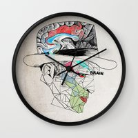 the godfather Wall Clocks featuring Godfather by Mary Szulc