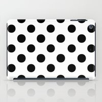 polka iPad Cases featuring Polka Dots (Black/White) by 10813 Apparel
