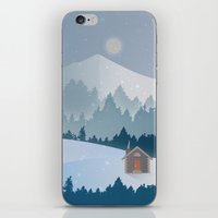 cabin iPhone & iPod Skins featuring Cabin by Eric-Bird