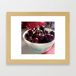 Butterprint Cherries Framed Art Print