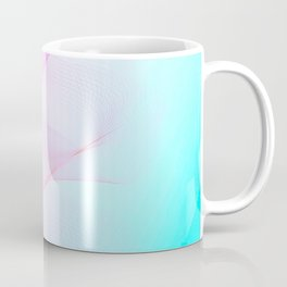 Pastel Motion Vibes - Pink & Turquoise #abstractart #homedecor Coffee Mug