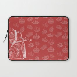 Queen of Hearts and Crowns Laptop Sleeve