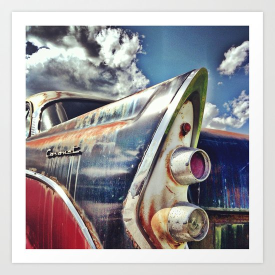 Car vintage Rust Art Print