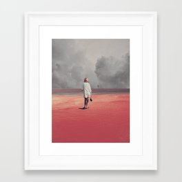 Watching you Leave me. Didn't want to Framed Art Print