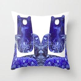 BlueBear Throw Pillow