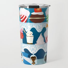 Christmas with Fashionista cats. Travel Mug