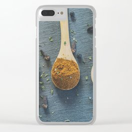 Mixed Spices. Clear iPhone Case