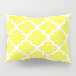 Arabesque Architecture Pattern In Citrus Yellow Pillow Sham