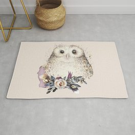 Boho Illustration- Be Wise Little Owl Rug